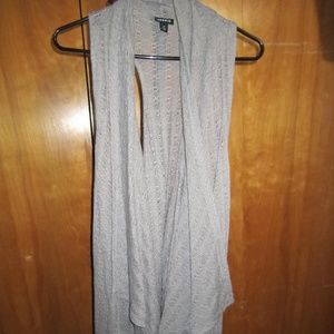 Long length sleeveless cardigan